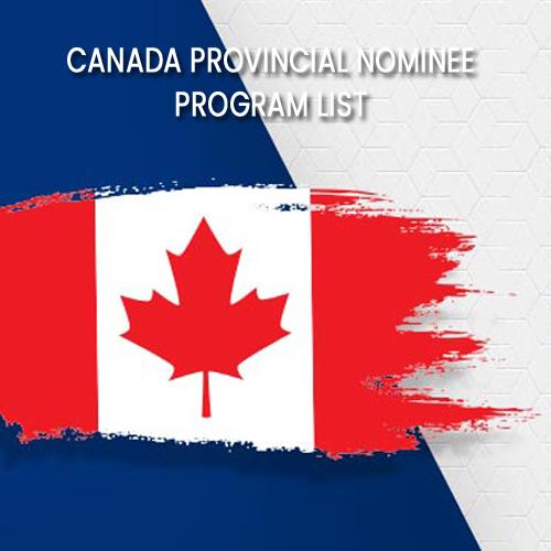 Canada Provincial Nominee Program List