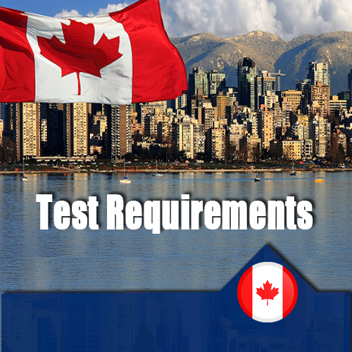 Test Requirements canada